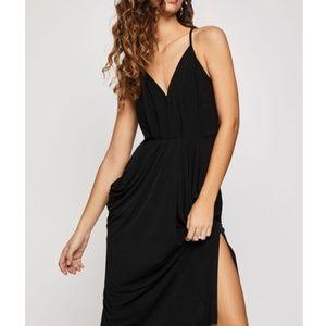 BCBG Generation - Faux Wrap Surplice Midi Dress
